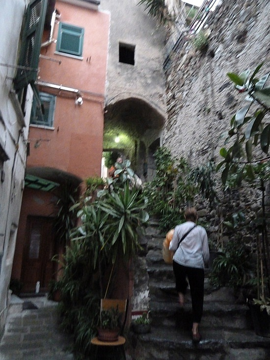 Hundreds of steps out of Venazza