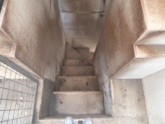 Steep stone stairs
