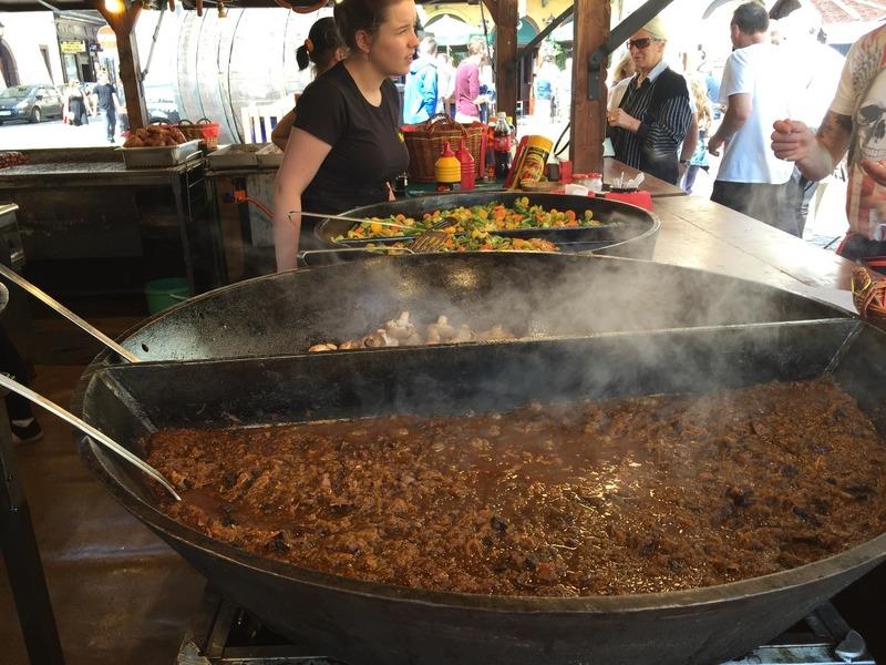 Big pots of food