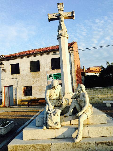 Pilgrim statues