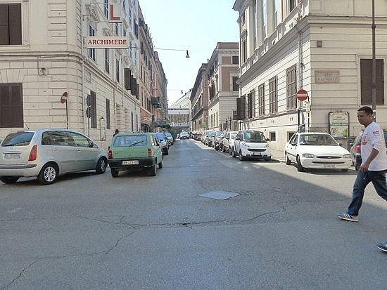 Parking in rome on t he corners all day is OK!!!