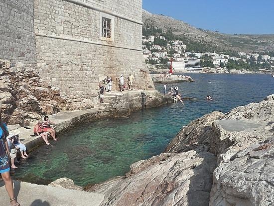 Went swimming here