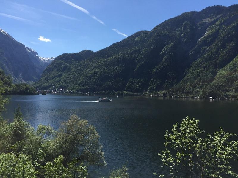 Lake beauty from train window