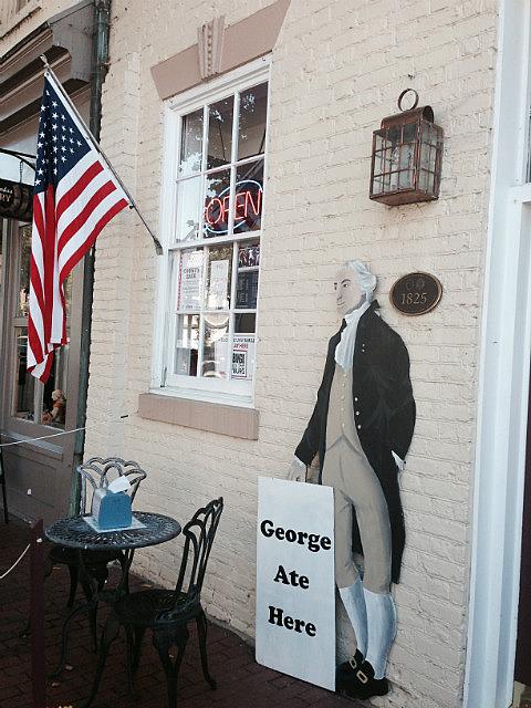 George Washington ate here