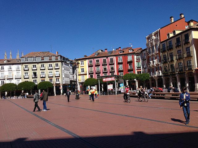 Massive square in Burgos