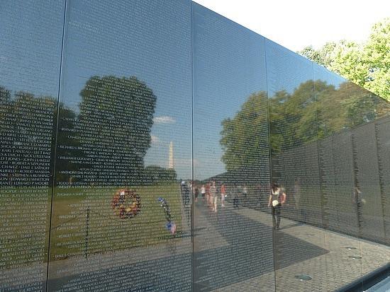 Vietnam War wall memorial names