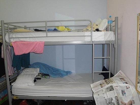 I had the top bunk