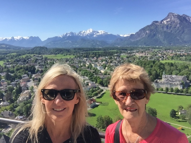 Mum and I at the fortress