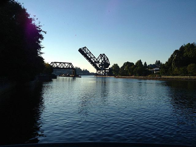 Ballard Locks Train bridge closing