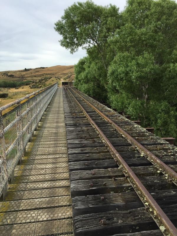 Crossing the rail bridge