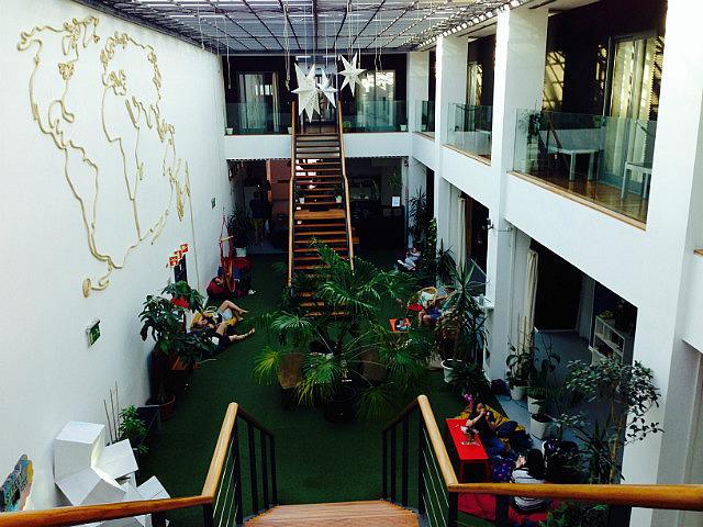 Interior of hostel