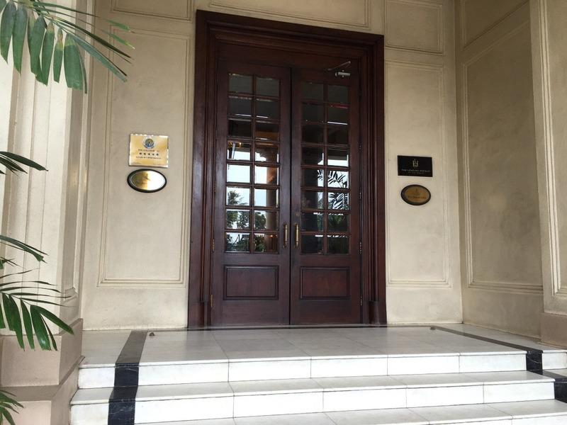 Strand Hotel front door