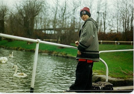 Michael on a lock