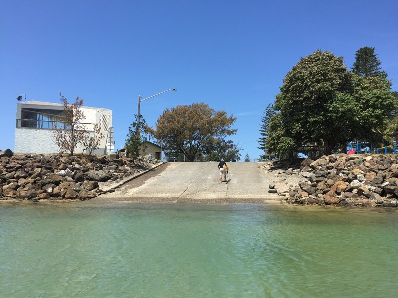 Boat ramp and new surf club
