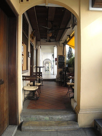 Covered walkways of shophouses
