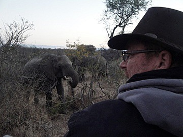Brad near the elephants