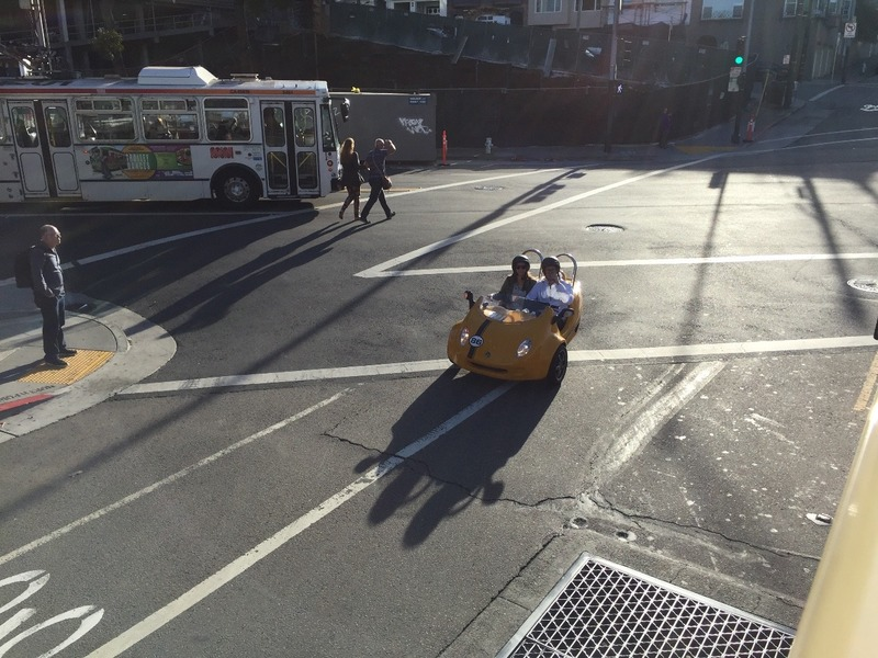 Little yellow GPS vehicles