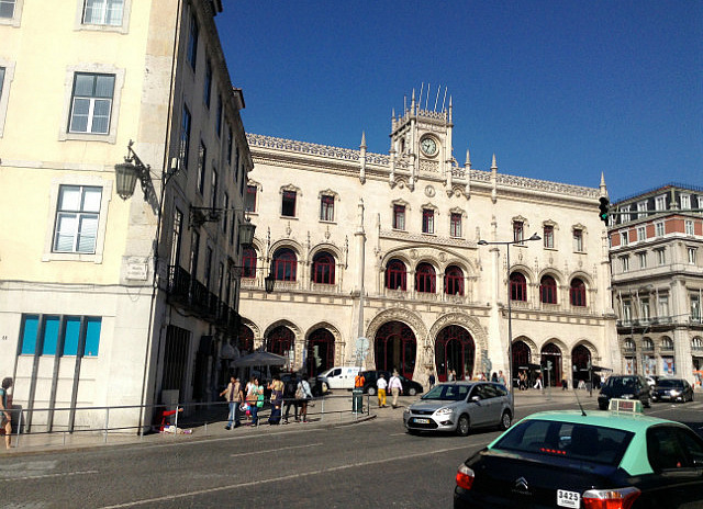 Outside of Rossio Station & my hostel