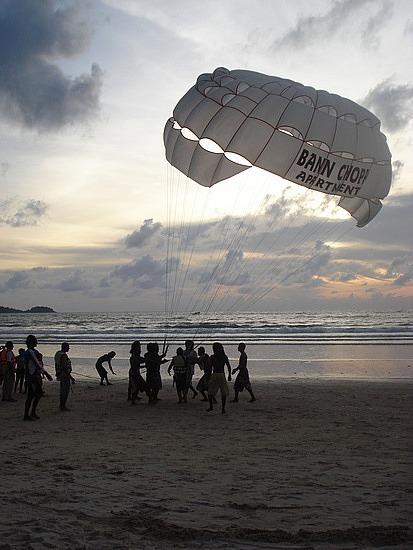 Parachuting at Patong Beach