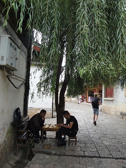 Locals playing chess