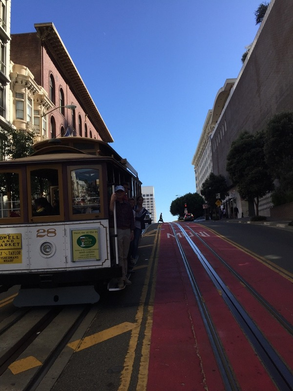 Passing another cable car