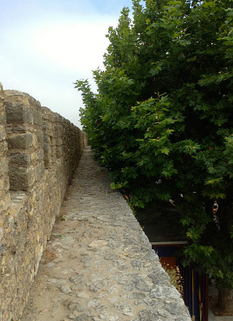 Narrow part of the wall