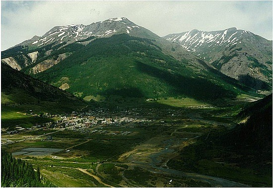 Looking down at Silverton