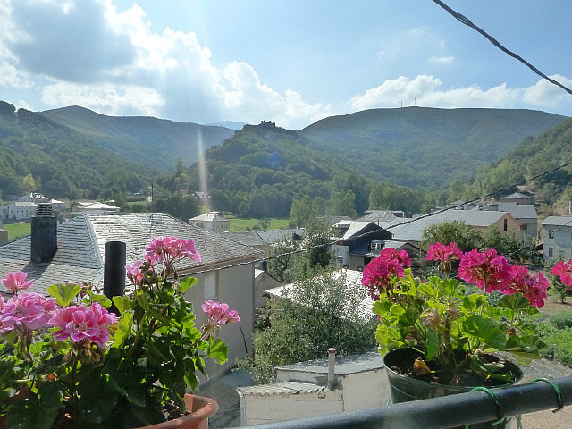 View to castle from my albergue window