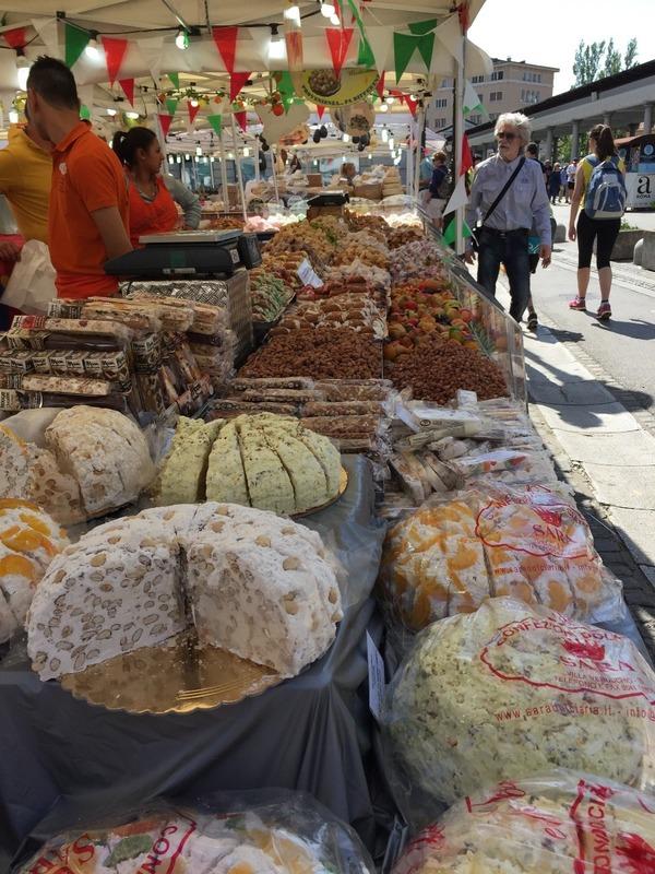 Italian market delicacies