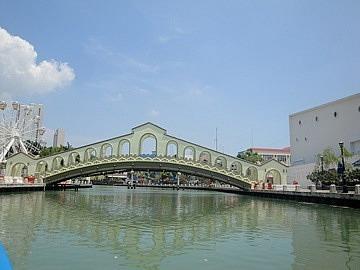 Bright Bridge over the River