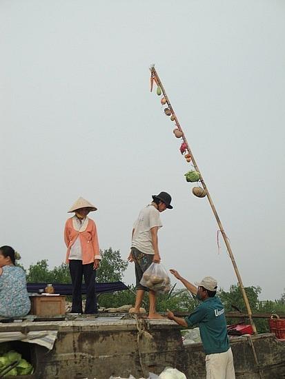 Pole identifying stock on board