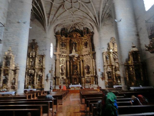 Inside a small local church