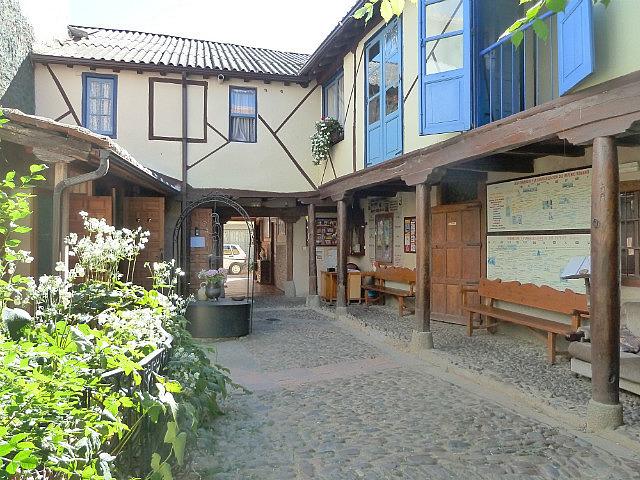 Courtyard in my albergue