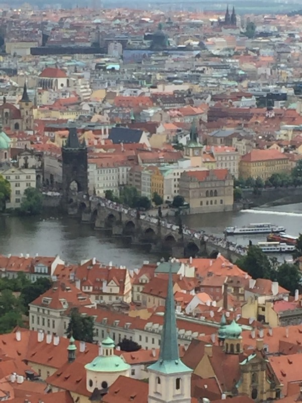 Zoomed into Charles Bridge