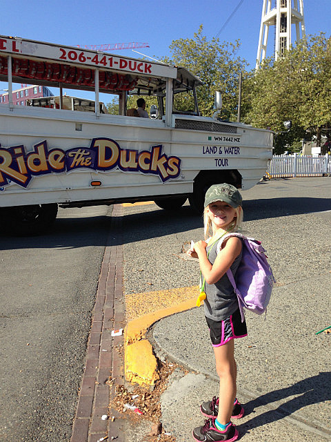 About to Ride the duck