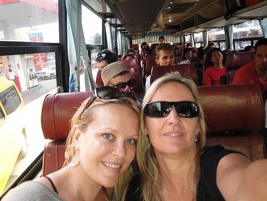 Cath & I on the bus