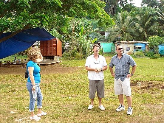 Glen, Gail & Brad at the school