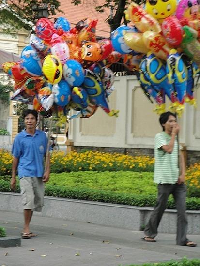 Colourful street scene
