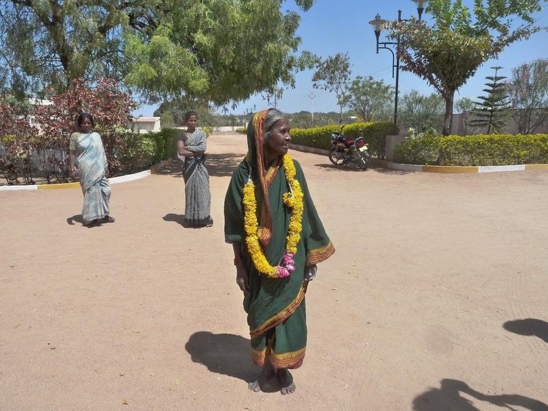 Lady outside hospital
