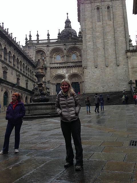 Wet day in Santiago