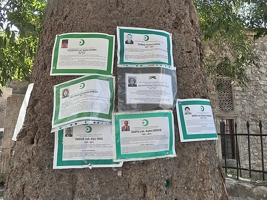 Signs of deceased locals gets posted on trees