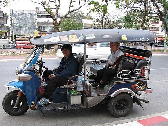 Thai tuk tuk - very noisy