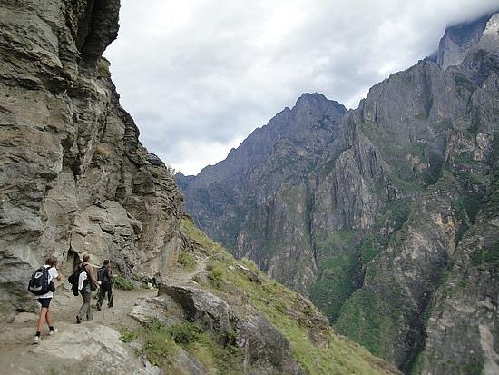 Around more cliffs