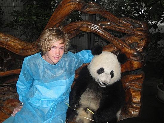 Nath having cuddle panda time