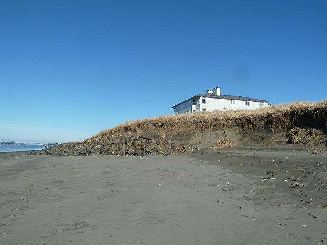Eroded beach