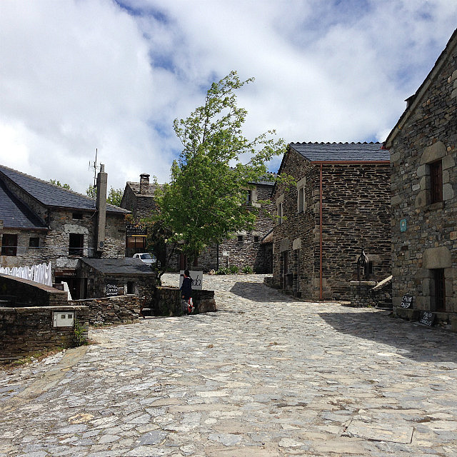The one cobblestoned street