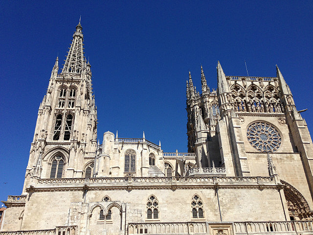 The cathedral against the blue skies