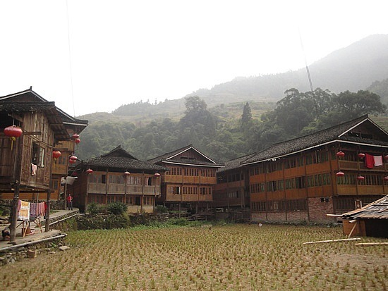 Long wooden houses