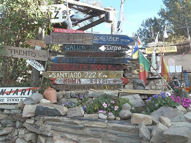 Signposts at Manjarin