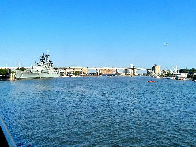 Naval area on canalside